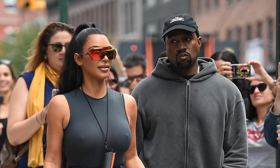 <strong>BRUDDRYKTER:</strong> Kanye West og Kim Kardashian har ifølge utenlandske medier den siste tiden hatt det svært tøft. I helgen slo Kanye tilbake mot bruddryktene med en helt spesiell overraskelse til kona. Foto: NTB Scanpix