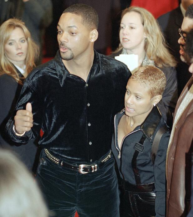 <strong>21 ÅR SIDEN:</strong> Will Smith og Jada Pinkett Smith avbildet på filmpremiere i januar 1997. De giftet seg i desember samme året. Foto: NTB scanpix