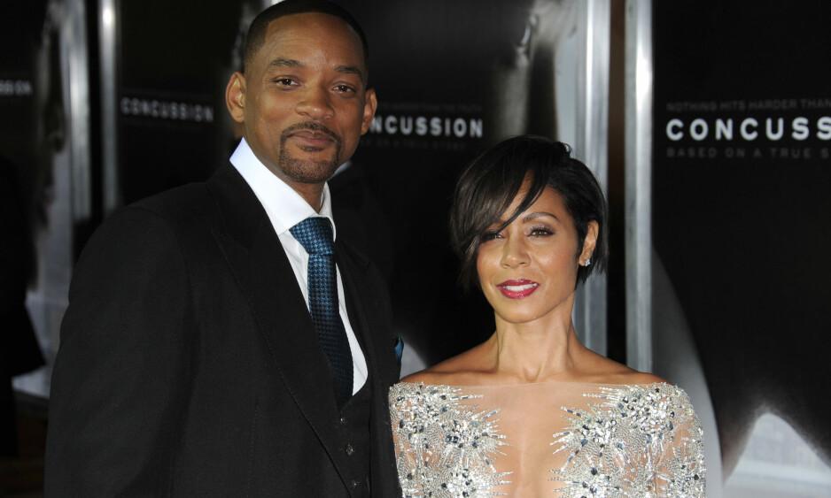 STØDIG EKTEPAR: Stjerneparet Will Smith og Jada Pinkett Smith giftet seg i desember i 1997. Etter 21 års ekteskap avslører sistnevnte at hun aldri egentlig ville gifte seg. Foto: NTB scanpix