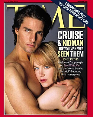 HOT PAR: I 1999 prydet Tom og Nicole også forsiden av Time Magazine. Foto: NTB Scanpix.
