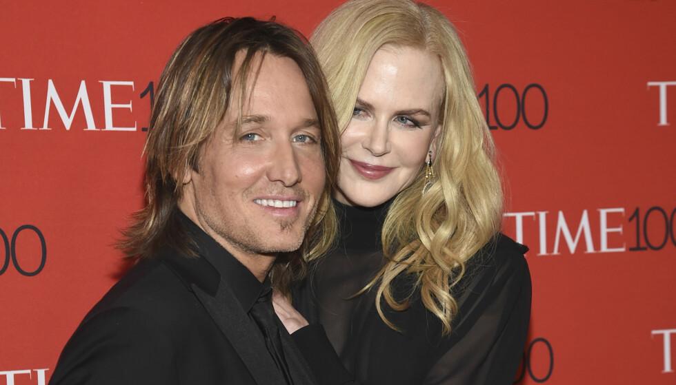 LYKKELIG: I tolv år har Nicole Kidman vært gift med country-stjernen Keith Urban. Her sammen på et event i New York i vår. Foto: NTB Scanpix.