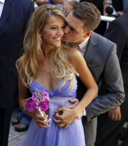 GIFT: Michael og kona Luisana giftet seg i 2011. Foto: AP / NTB Scanpix