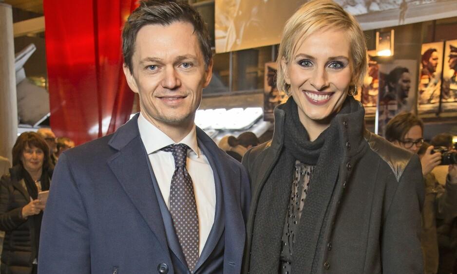 PAR I TI ÅR: Anne Rimmen og Ailo Gaup har vært et av Norges mest profilerte par i en årrekke. Her på «Den 12. mann»-premiere i 2017. Foto: Tore Skaar/ Se og Hør