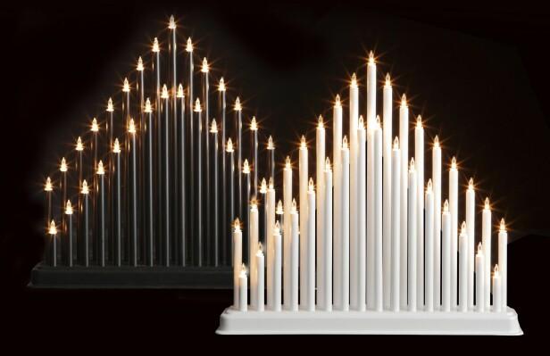 <strong>FAVORITT:</strong> Denne stemningsfulle og klassiske lysbroen er perfekt for å skape den optimale stemningen. Lysbroen består av 33 varmhvite lys som alle er utskiftsbare - fås i sort og hvit..