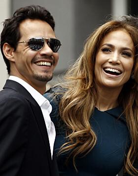 <strong>EKSER:</strong> Jennifer Lopez har tidligere vært gift med Marc Anthony. Paret fikk to barn sammen. Foto: NTB Scanpix
