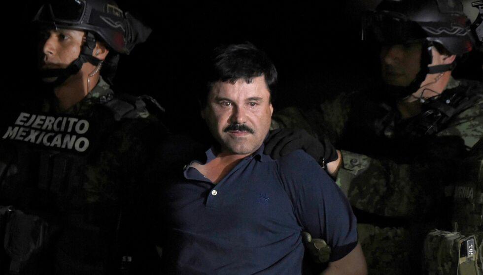 PÅGREPET: Her er Joaquin «El Chapo» Guzman avbildet i januar 2016, da han ble pågrepet i Mexico. Foto: NTB Scanpix