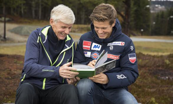 <strong>MORFAR SOM TRENER:</strong> Johannes forteller at det ikke er slitsomt å ha morfar som trener. Derimot påpeker skistjernen at morfaren vil han kun det beste. Foto: Morten Eik / Se og Hør