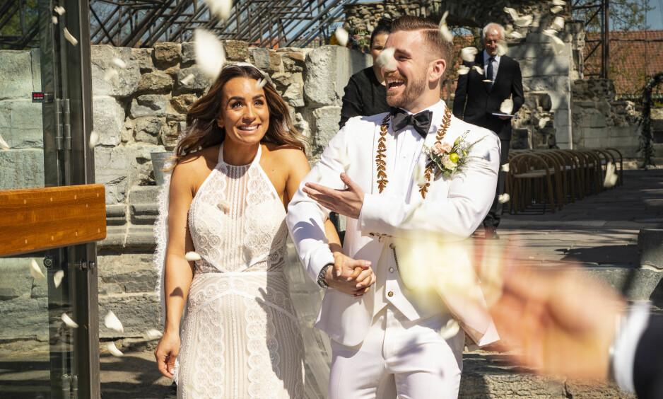 BLE FORELDRE: Jamina og Stian Blipp, som giftet seg 19. mai i år, er nå blitt foreldre for første gang. Foto: Tor Lindseth / Se og Hør