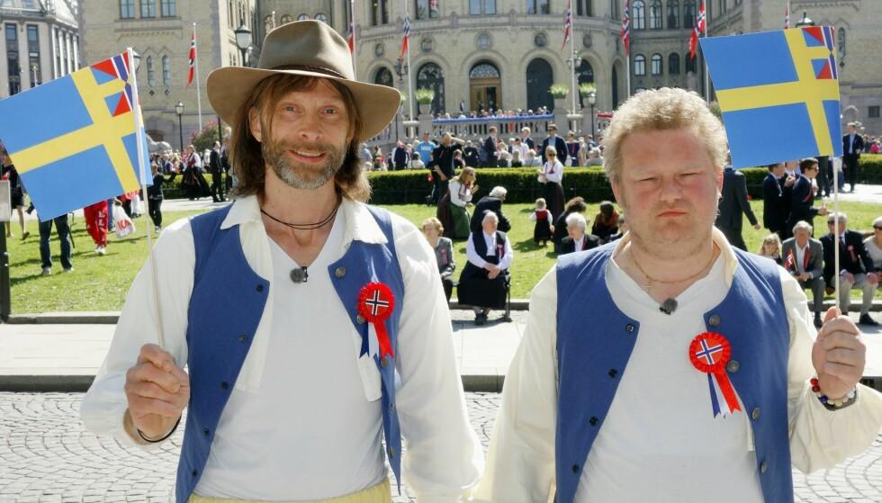 <strong>POPULÆRE:</strong> Ola-Conny Wallgren (t.v.) og kollega Morgan Karlsson er kjente profiler fra Ullared-serien på TVNorge. Foto: TVNorge