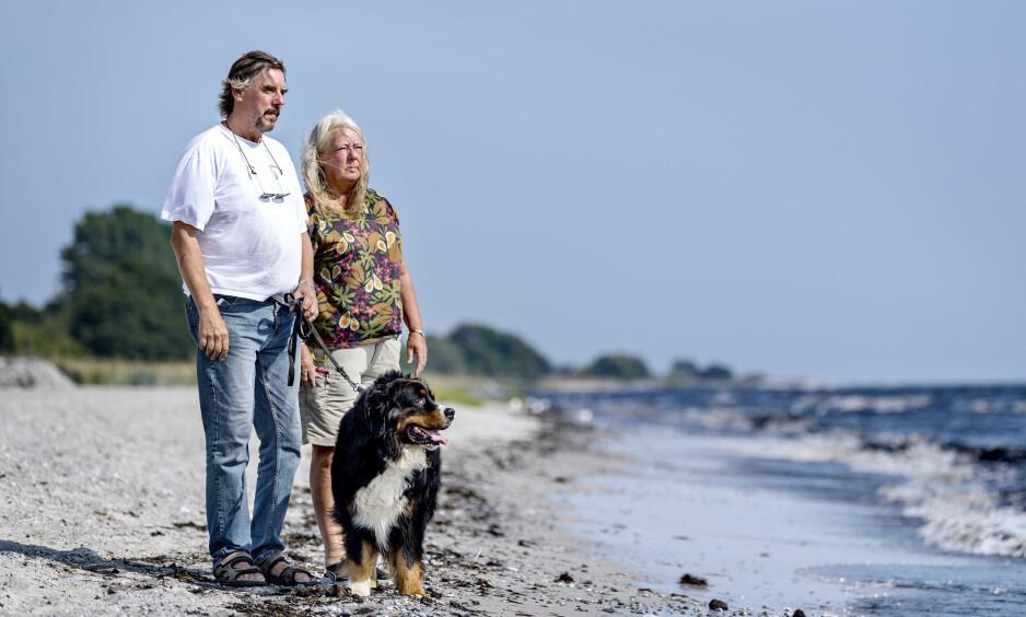 REVET VEKK: Foreldrene til Kim Wall, Joachim og Ingrid, opplevde sitt livs mareritt da datteren ble drept i fjor sommer. Nå har de skrevet bok sammen om det brutale året. Foto: Ritzau / NTB Scanpix