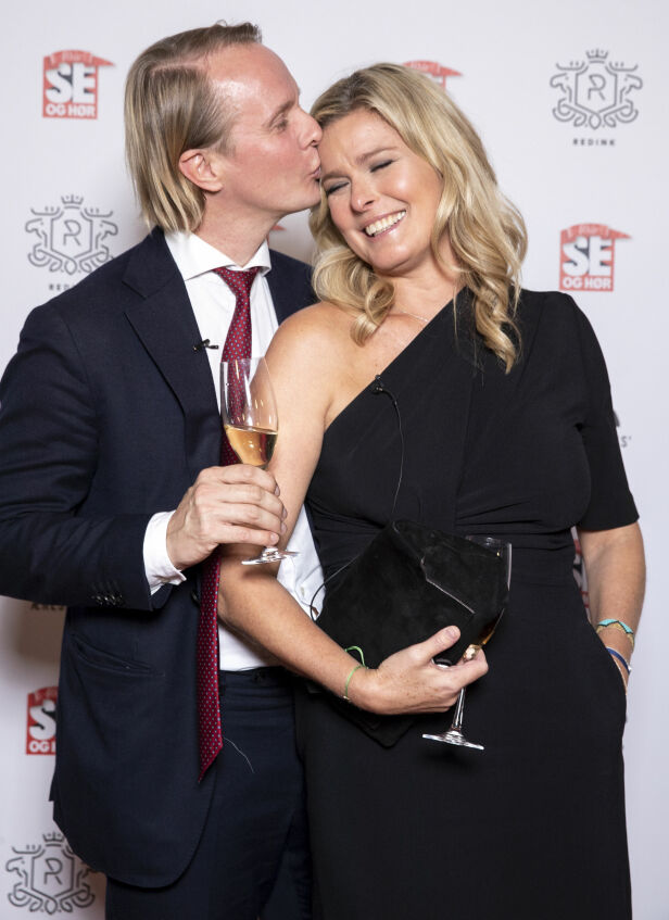 NYTT STEG: Petter og Vendela planlegger å kjøpe seg leilighet sammen. Her er det forelskede paret fotografert på Se og Hørs 40-årsjubileum tidligere i høst. Foto: Andreas Fadum