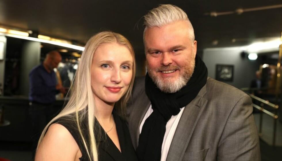 <strong>VOKSENKVELD:</strong> Rein Alexander og kjæresten Marie Bjaaland Aadalen tirsdag kveld. Foto: Andreas Fadum / Se og Hør