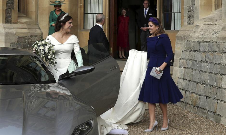 <strong>BRYLLUPSKLAR:</strong> Flere hevder at prinsesse Beatrice snart vil følge i søsterens fotspor og gifte seg. Her fra sistnevntes bryllup tidligere i år. Foto: NTB Scanpix