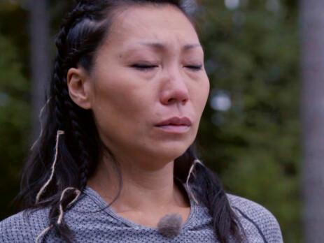 <strong>KNUST:</strong> Irene Halle ble overrasket over egen reaksjon etter tvekampen. Foto: TV 2