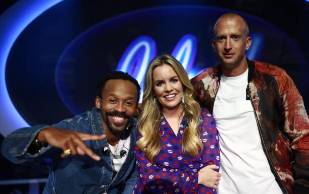 DOMMERE: Sammen med Tshawe Baqwa fra Madcon og Gunnar Greve, er manager Silje Larsen Borgan en av årets «Idol»-dommere. Foto: TV 2
