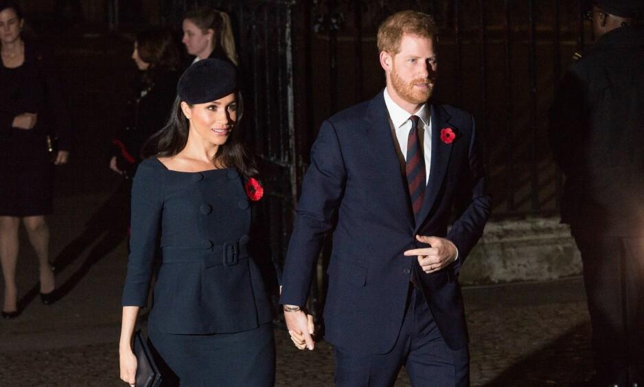 <strong>FLYTTER:</strong> Prins Harry og hertuginne Meghan har fått tildelt et eget hus i Windsor, og flytter ut av Kensington Palace allerede neste år. Foto: NTB Scanpix
