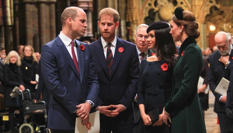 <strong>UENIGE:</strong> Ifølge The Sun skal det ha vært en uoverensstemmelse mellom prins Harry og prins William som skal ha vært en av grunnene til hvorfor Harry og hertuginne flytter. Foto: NTB Scanpix