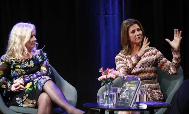 GITT UT FLERE BØKER: Prinsesse Märtha Louise (t.h.) og Elisabeth Nordeng presenterte boken «Sensitive barn» tidligere i år. Foto: Heiko Junge / NTB scanpix