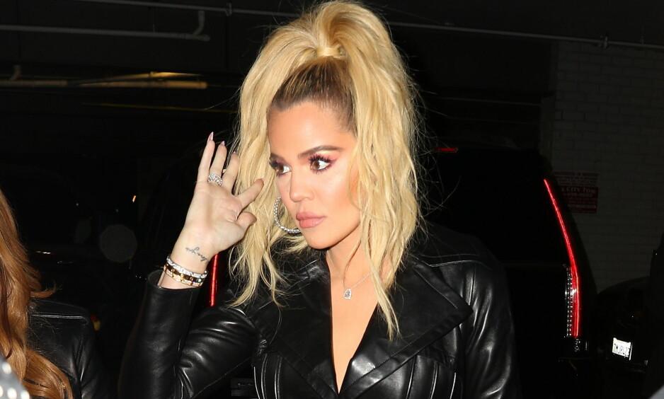 OPPGITT: Khloé Kardashian er oppgitt over fansen som spekulerer om livet hennes. Nå har hun tatt til Twitter for å oppklare Thanksgiving-bråket. Foto: NTB Scanpix