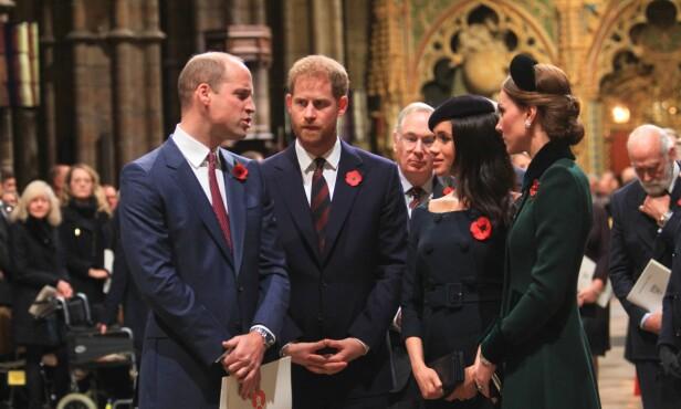 DÅRLIG STEMING: Det skal angivelig være på grunn av Meghan og Kate at prins Harry og Meghan ønsket å flytte. Foto: NTB Scanpix