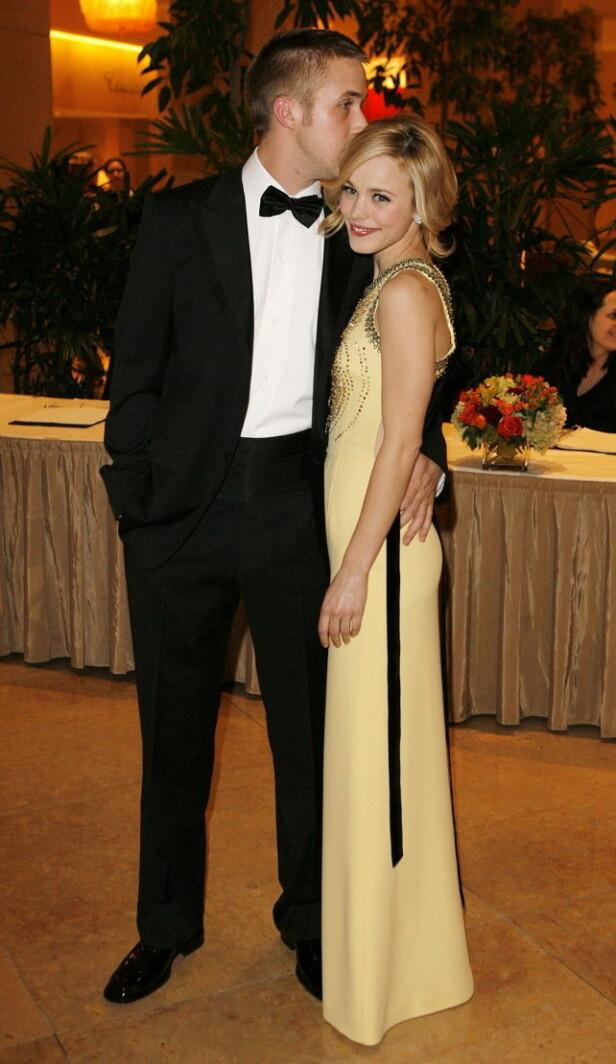 KOLLEGAER OG KJÆRESTER: Ryan Gosling og Rachel McAdams ble sammen på filmsettet i 2004. Til skuffelse for mange fans verden over, ble det derimot slutt i 2007. Foto: NTB Scanpix