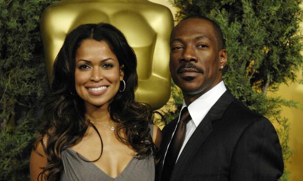 ANGRET PÅ EKTESKAP?: Eddie Murphy og Tracey Edmonds overrasket alle da de utvekslet ekteskapsløfter - og ombestemte seg - i løpet av knappe to uker. Her er de på en lunsj for Oscar-nominerte i februar 2007. Foto: AP/ NTB scanpix
