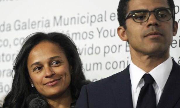 <strong>FAMILIEKVINNE:</strong> Isabel dos Santos er gift med kunstsamleren Sindika Dokolo, og sammen har de tre barn. Foto: NTB Scanpix