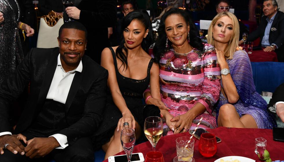 <strong>AFRIKAS RIKESTE:</strong> Isabel dos Santos sammen med Chris Tucker, Nicole Scherzinger og Paris Hilton tidligere i år. Foto: Stella Pictures