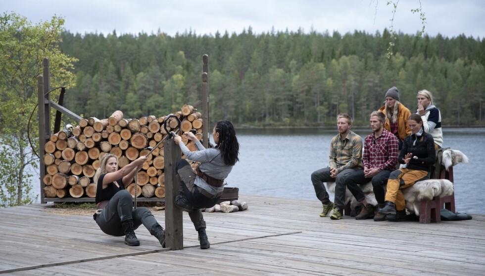 STERK: Karianne dro til - og vant tvekampen mot Irene. Dermed fortsetter hun kampen for tilværelsen i «Farmen». Foto: Birgitte Thorshaug Kristiansen / TV 2
