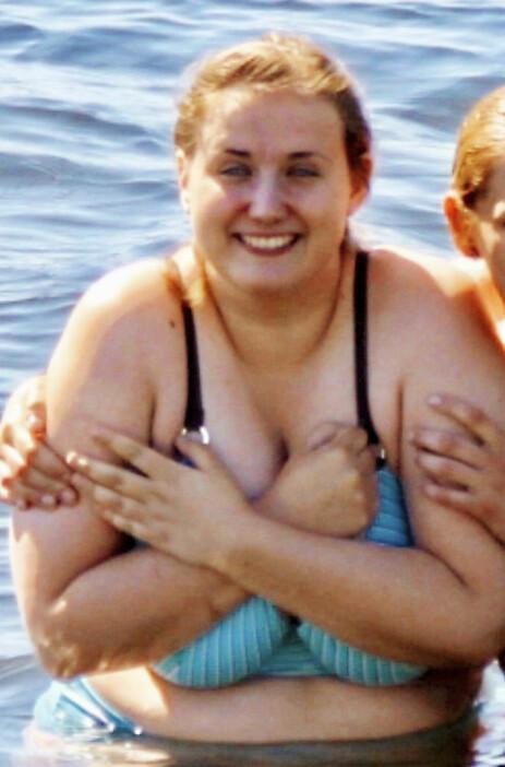 TUNG TID: - Jeg hadde det veldig dårlig med meg selv, sier Karianne om tiden da hun veide 120 kilo. Her fra 2011. Foto: Privat