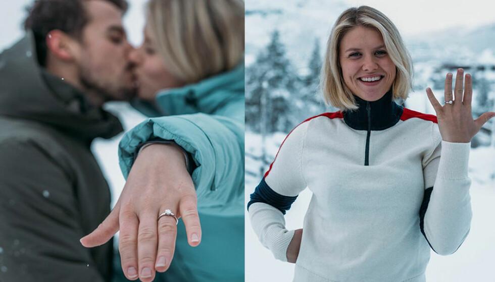 <strong>FORLOVET:</strong> Fredag forlovet Tiril Sjåstad Christiansen og Stian Lauritzen seg. Det bekrefter de lørdag kveld. Foto: Privat