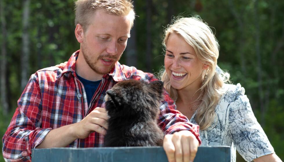 DEN GANG DA: Kjetil Nørstebø og Tonje Frøystad Garvik fikk et nært forhold inne på «Farmen». I dag har de ingen kontakt. Foto: Alex Iversen / TV 2