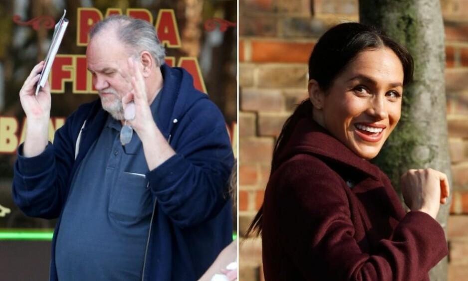 <strong>SAVNER DATTEREN:</strong> Thomas Markle har ennå ikke oppnådd kontakt med datteren Meghan siden hun i mai giftet seg inn i den britiske kongefamilien. Foto: NTB Scanpix