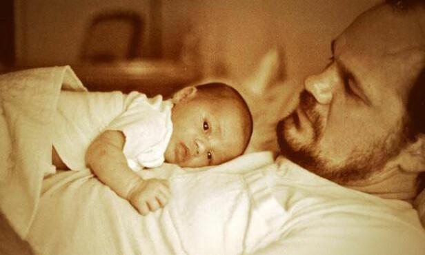 <strong>STOLT FAR:</strong> Meghan og faren avbildet da hun var baby. Foto: NTB Scanpix
