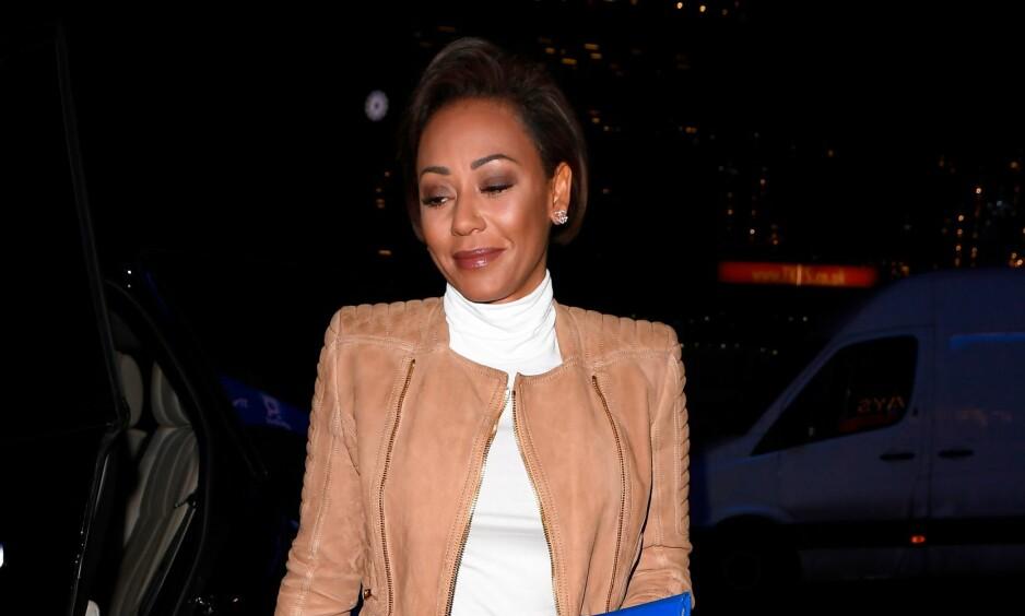 SKADET SEG STYGT: Spice Girls-medlem Melanie Brown (43) forteller på Instagram at hun har gjennomgått en tre timer lang operasjon. Årsaken forteller hun derimot lite om. Foto: NTB Scanpix