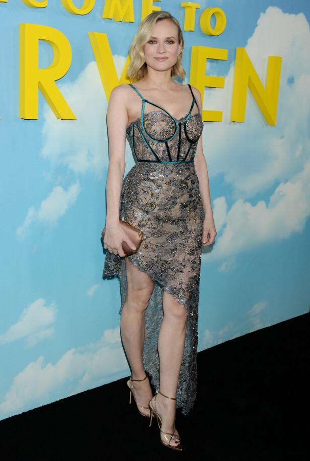 <strong>PREMIEREKLAR:</strong> Diane Kruger på «Welcome to Marwen»-premieren i Los Angeles 10. desember - en drøy måned etter fødselen. Foto: NTB Scanpix