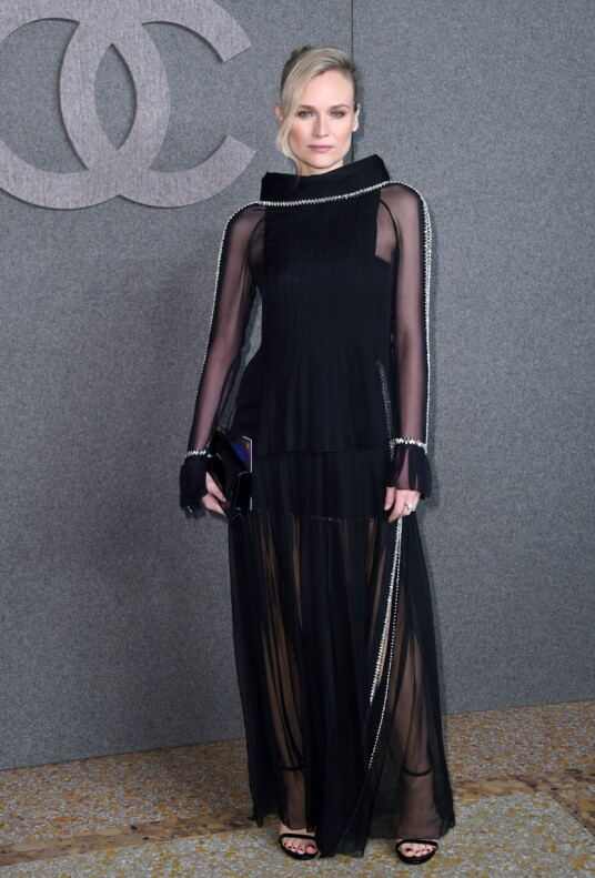 <strong>DIANE KRUGER:</strong> Stjernen strålte i sort på Chanel-visning i New York i starten av desember. Foto: NTB scanpix
