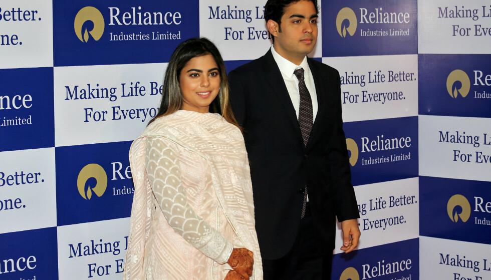 <strong>SØSKEN:</strong> Isha og tvillingbroren Akash er begge involvert i familiebedriften. Foto: NTB Scanpix