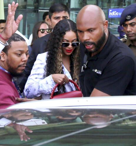 <strong>CELEBER UNDERHOLDNING:</strong> Beyoncé ankom India samme dag som hun skulle opptre. Foto: NTB Scanpix