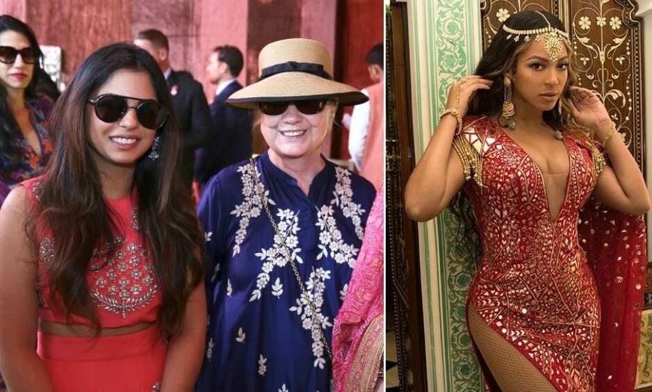<strong>EKSTRAVAGANT BRYLLUP:</strong> Onsdag gifter Isha Ambani seg, og blant gjestene er blant andre Hillary Clinton. Superstjernen Beyoncé har i forkant av bryllupet stått for underholdningen. Foto: NTB Scanpix / Skjermdump, Instagram