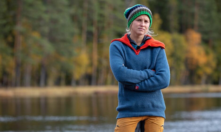 SMERTER: Årets «Farmen»-vinner Tonje Frøystad Garvik avslører «hemmelig» skade rett før årets «Farmen»-finale. Foto: Alex Iversen/ TV 2