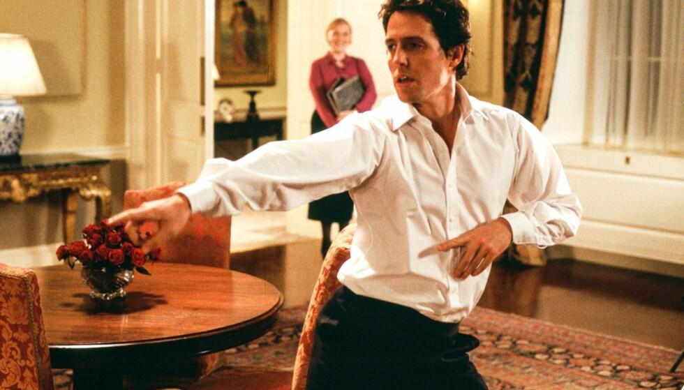 UUTHOLDELIG: Hugh Grant åpner opp den mye omtalte scenen i julefilmen «Love Actually». Foto: Universal Movies