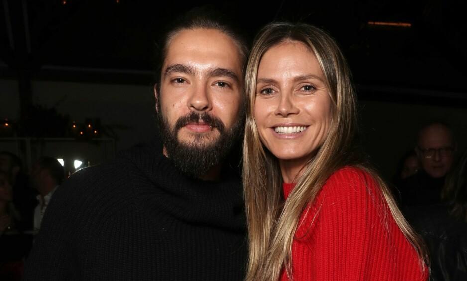 <strong>FORLOVET:</strong> Supermodellen Heidi Klum og gitaristen Tom Kaulitz forlovet seg på selveste julaften. Foto: NTB Scanpix