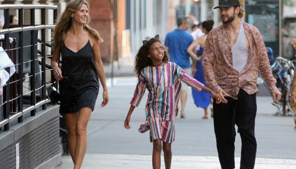 <strong>GATELANGS:</strong> Heidi, Lou og Tom så ut til å ha det gøy sammen i New York. Foto: NTB Scanpix