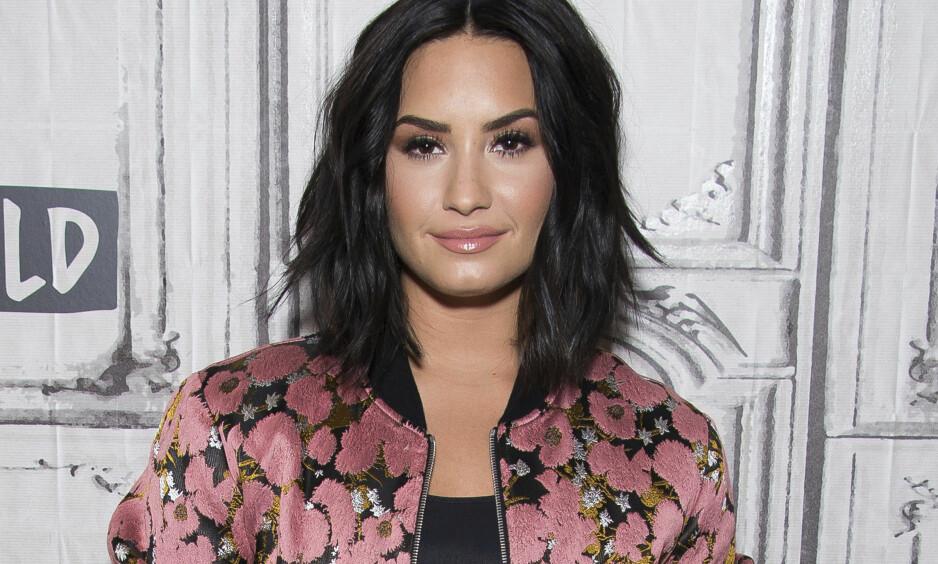 AVSLØRING: Demi Lovato har mildt sagt hatt sitt å stri med i år, og derfor er det mange som nå synes det er ekstra hyggelig at hun har funnet kjærligheten. Foto: NTB scanpix
