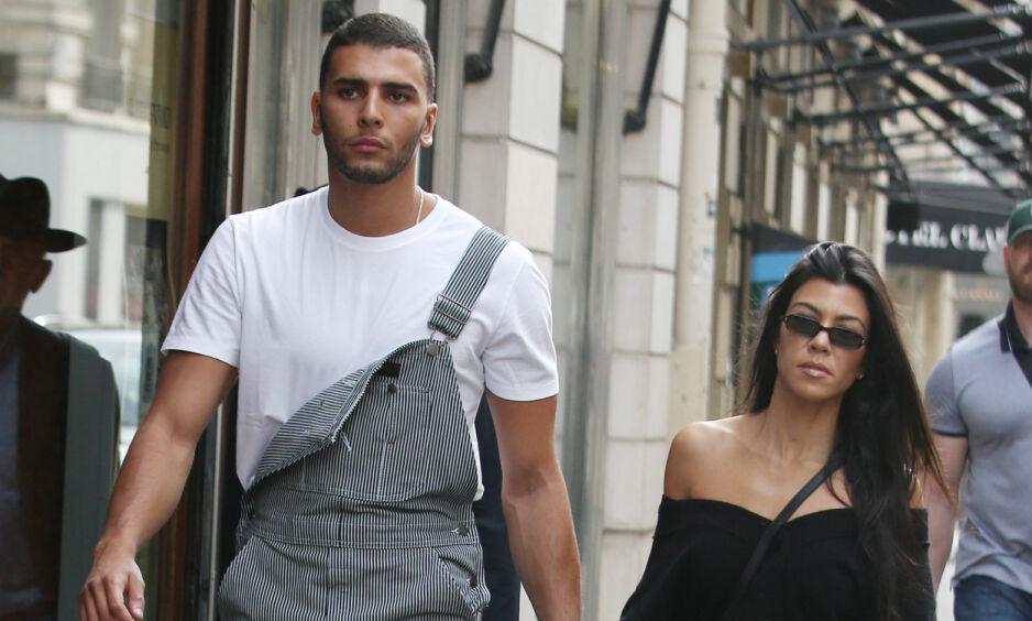 BRUDD: Tidligere i år ble det kjent at Kourtney Kardashian og Younes Bendjima hadde gjort det slutt. Nå, noen måneder senere, hyller sistnevnte ekskjæresten. Foto: NTB Scanpix