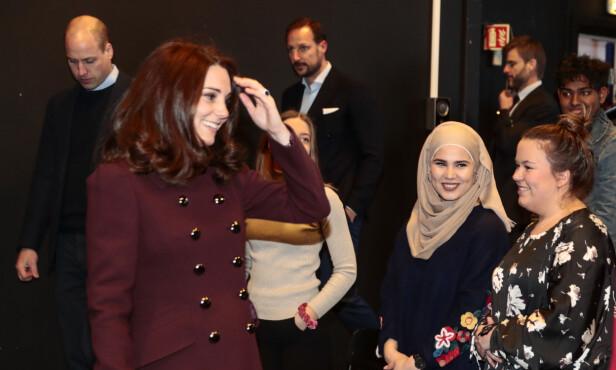 SPESIELT MØTE: Iman var blant andre en av de heldige som fikk treffe hertuginne Kate og prins William da de besøkte Norge tidligere i år. Foto: NTB Scanpix