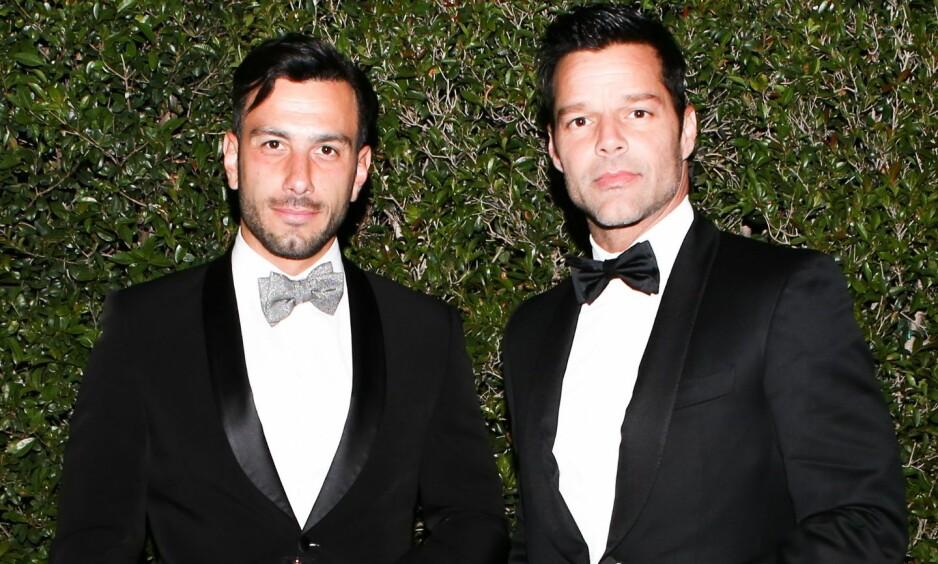<strong>BLE FORELDRE:</strong> Ricky Martin og ektemannen Jwan Yosef fikk nylig en datter sammen. Foto: NTB Scanpix