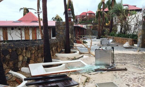 EDEN ROCK: Etter at orkanen Irma herjet i september 2017, var hotellet til familien Matthews nødt til å renoveres. Foto: NTB scanpix