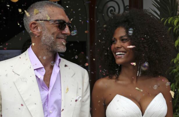 <strong>GIFTET SEG:</strong> Cassel giftet seg med den 21 år gamle kona i august ifjor. Her fra bryllupet deres i Frankrike. Foto: NTB Scanpix